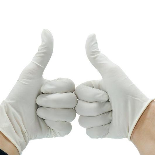 disposable latex examination glove white